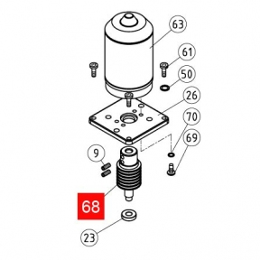 Червяк NEW RB350/RB400/ROAD400 (PMD1501R04.4610)