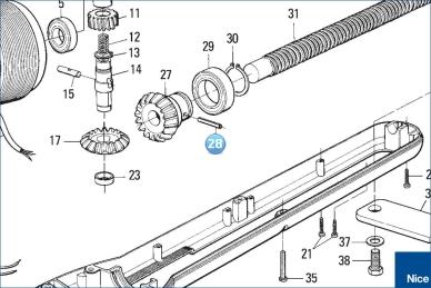 Штифт шестерни червячного вала PLUTO 4000 (PMCS4.4630)