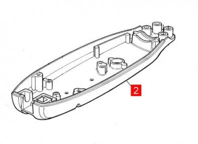 Корпус MB задний нижний  (BMGMOPBR01.45673)