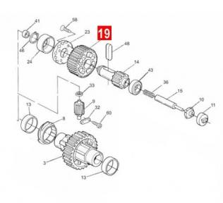 Шестерня SO редуктора (PPD1294.4540)