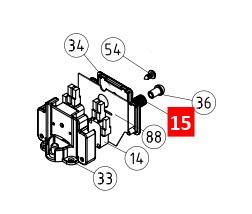 Пружина концевого выключателя ROBO/THOR/ROBUS (MO-D.2640)