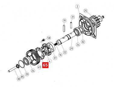 Диск сцепления редуктора RB600 (PPD0969.4540)