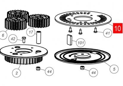 Пластина установки концевиков HOPP (PMD2220R02.4610)
