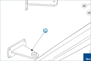 Кронштейн крепления передний TOONA7024 (PMD1640R03.4610)