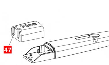 Крышка задняя TOONA 4016, 5016 (PPD1598.4540)