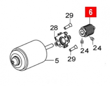 Червяк двигателя WG10/WINGO24 (PMD1095R01.4610)